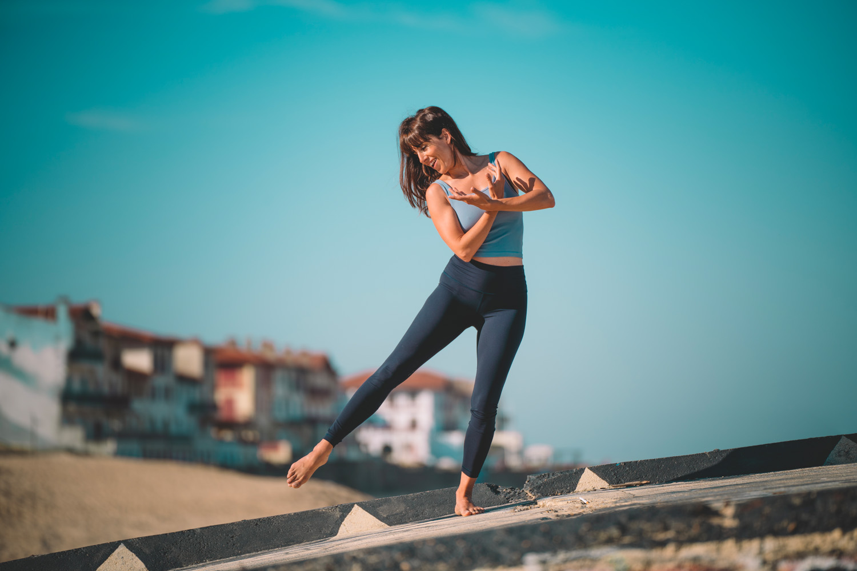 Pilates au bord de l'océan
